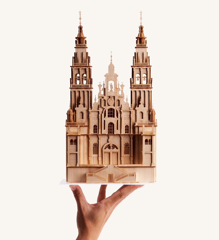 Catedral Santiago de Compostela en la mano