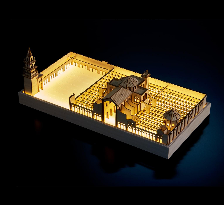 Mezquita de Córdoba iluminada