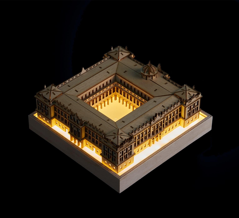 Palacio Real Madrid iluminado