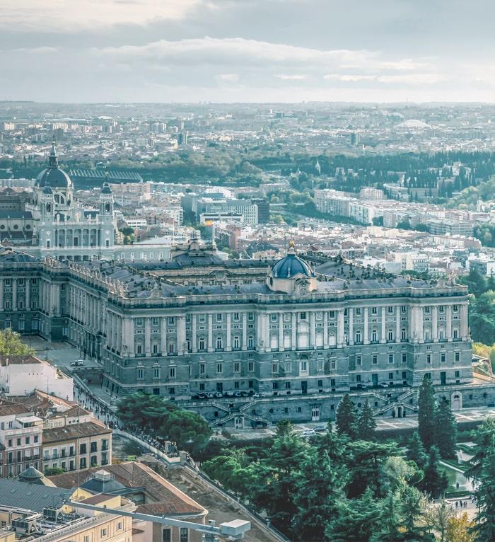 Palacio Real de Madrid desde altura