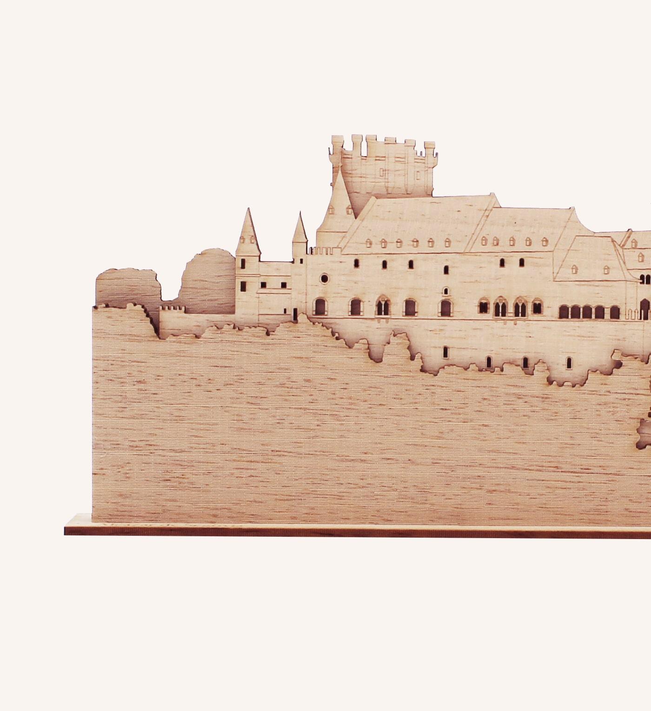 Perfil de madera del Alcázar de Segovia detalle