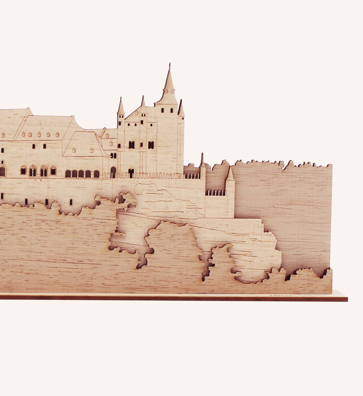 Perfil de madera del Alcázar de Segovia detalle 2