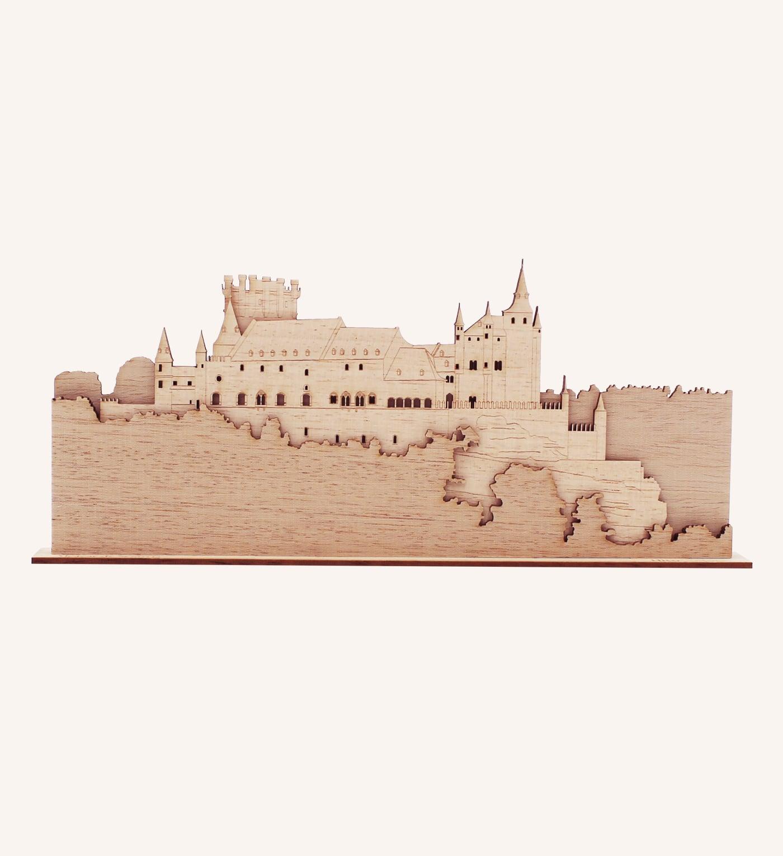 Perfil de madera del Alcázar de Segovia