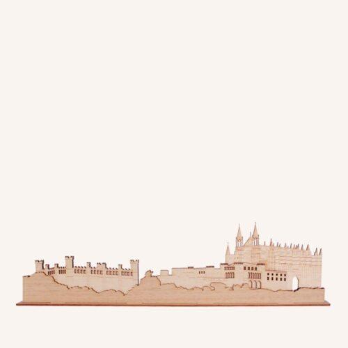 Perfil de Mallorca de madera