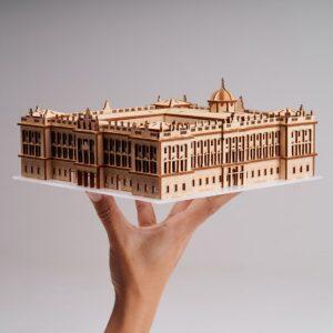 Maqueta de madera del Palacio Real de Madrid