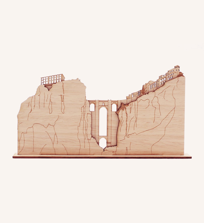 Puente Nuevo de Ronda de madera