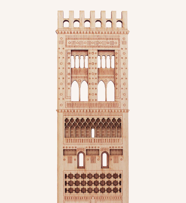 Torre mudéjar iglesia El Salvador, Teruel, detalle 1